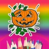Halloween Coloring Book For Kids To Draw Or Paint