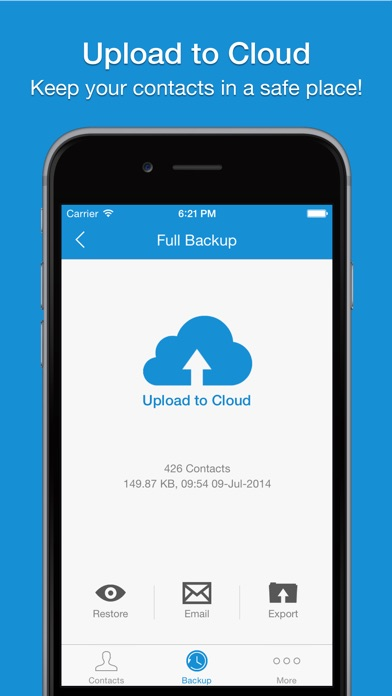 Screenshot #9 for Easy Backup - Contacts Backup Assistant