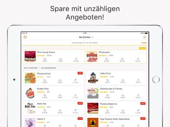 pizza.de - Günstig bestellen Screenshot