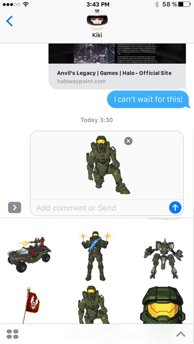 Halo Stickers Screenshot