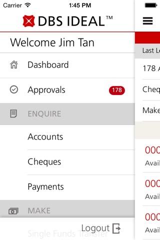 DBS IDEAL Mobile screenshot 3