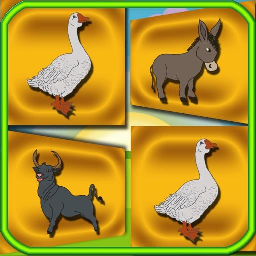 Memory Flash Cards Farm Animals iOS App