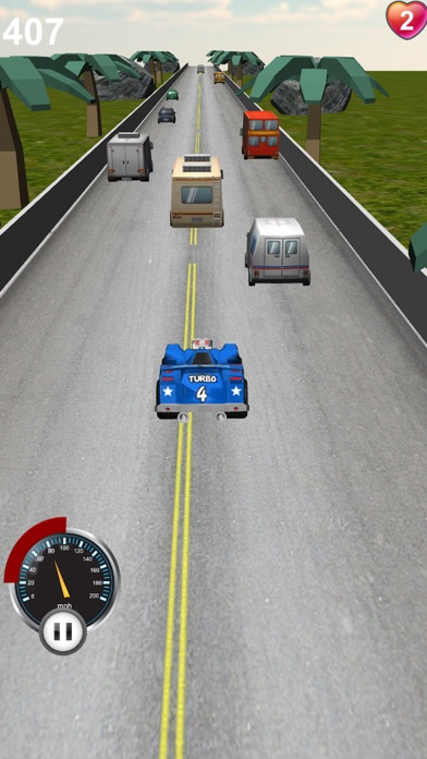 レーシングカーの3Dのスクリーンショット1