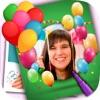 Bilderrahmen und Geburtstagskarten mit Aufkleber