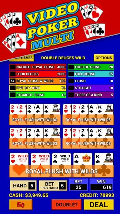Video Poker Multi - Classic Multi Hand Poker Screenshot