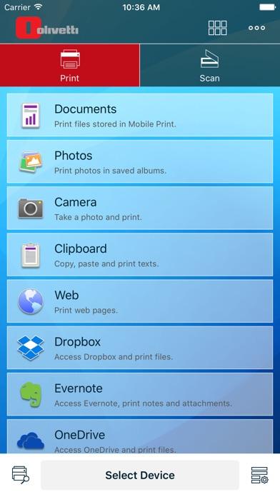Olivetti Mobile PrintCapture d'écran de 1