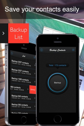 Backup Contacts ( save , export and restore ) screenshot 1