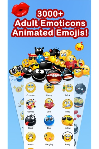 Emoticons Keyboard Pro - Adult Emoji for Texting screenshot 1