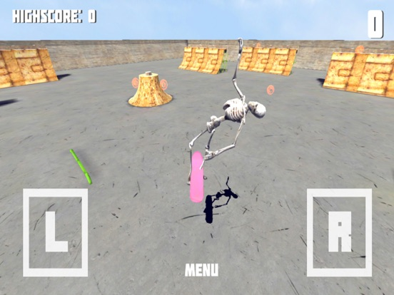 Скелет Скейтборд - Необычное Скейтборд игры! для iPad