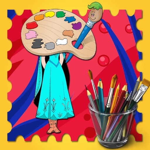 Paint Games Princess Anna Version iOS App