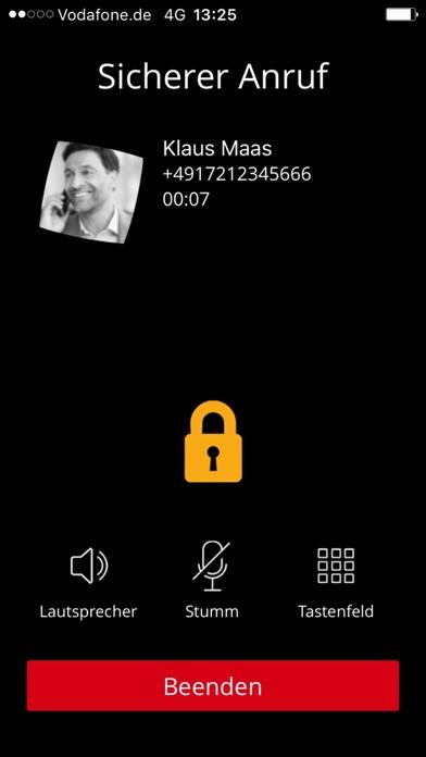 Screenshot von Vodafone Secure Call2
