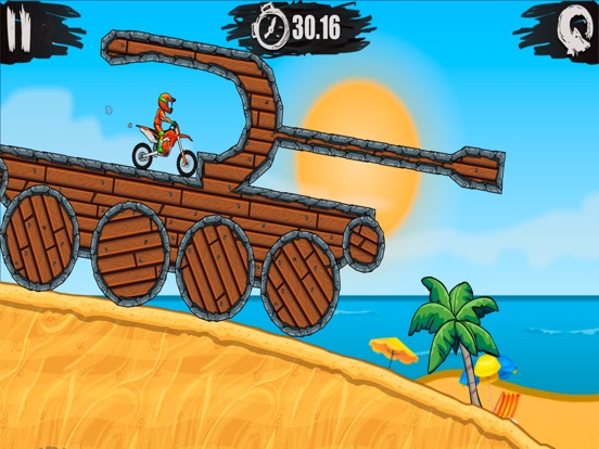 Screenshots of Moto X3M Bike Race Game and Stunts Racing for iPad