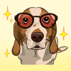 Dog with Text Stickers : New