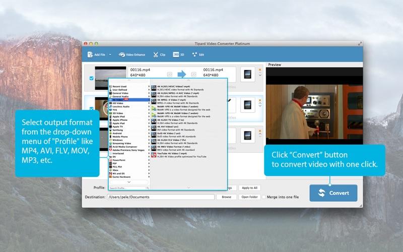 Tipard Video Converter Platinum-Convert Any Video Screenshots
