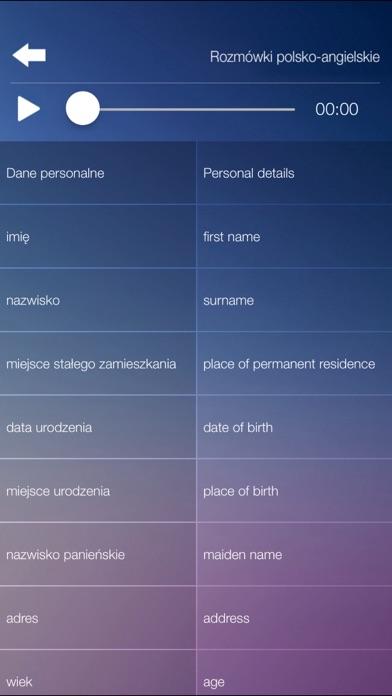 Rozmówki polsko-angielskie - szybka nauka języka Screenshots