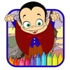 Coloring Book For Kids Dracula Halloween Version
