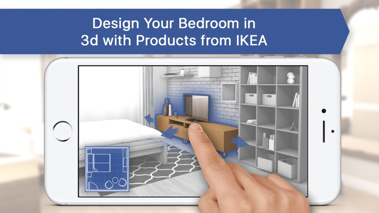3D Bedroom for IKEA: Room Interior Design Planner by Oleksandr Rysenko