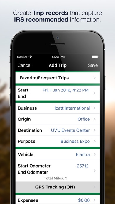 MileBug (LITE) - Mileage Log & Expenses for Taxes screenshot one