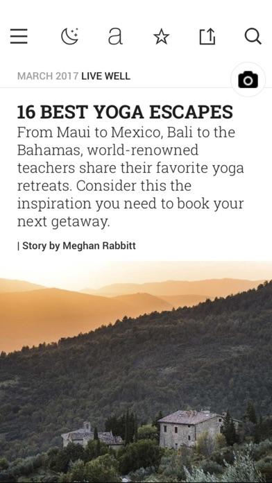 Yoga Journal review screenshots