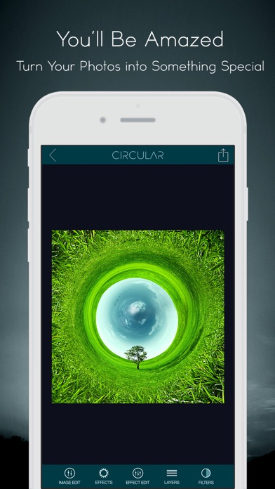 Circular Tiny Planet Editor Screenshots