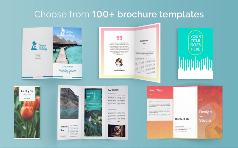 Brochure templates 100 brochures for pages per onsoftas mb for Brochure template mac