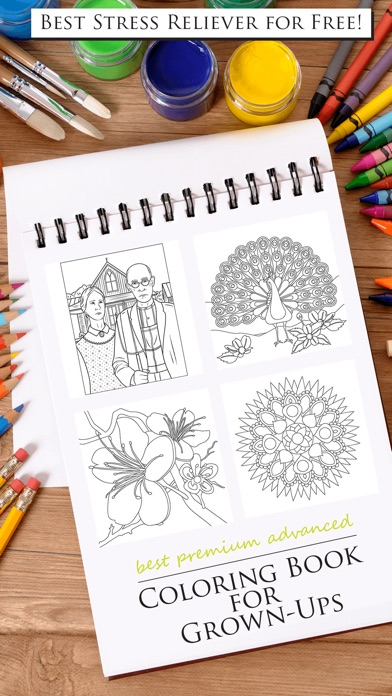 Best Premium Advanced Coloring Book For Grown Ups On The App Store