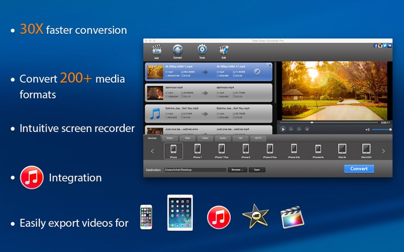 Screenshot #1 for Total Video Converter Pro