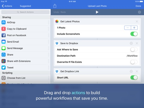 Workflow screenshot 2